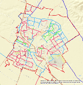 Map of Bikeways in the City of Salinas