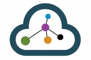 cloud icon with 3 connecting dots