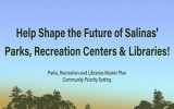 Help Shape the Future of Salinas' Parks, Recreation Centers & Libraries, blue sky and tops of trees