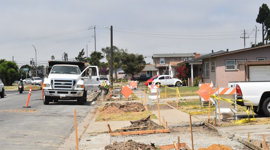 tyler Street Sidewalk Construction