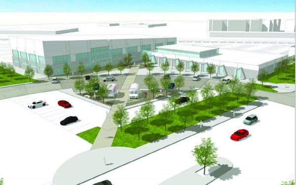 Conceptual Public Safety Center drawing