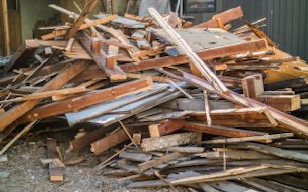 Construction and Demolition Debris Recycling - Pile of Wood