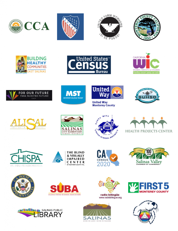 Logos of Action Team partners. Local CBOs, other government organizations, City departments, and school districts