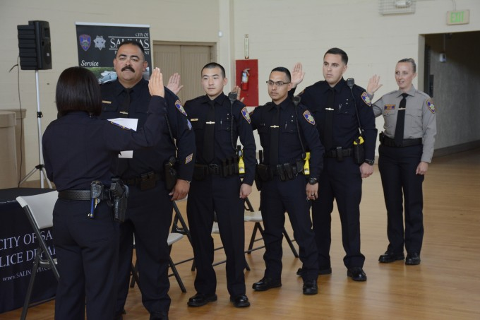 Salinas Police Department Holds Oath of Office and Promotion
