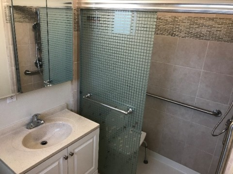 Bathroom remodeled with Housing Services Program