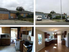 Before and after photos of 47 Oregon Street Rehab