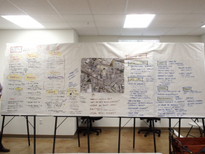Board of community ideas from second Chinatown TAC and Working Goup meetings