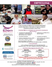 Empresari@ Small Business Training Flyer