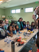 Girl Scouts in STEM activity