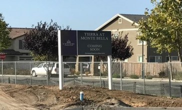 Coming soon sign at Monte Bella subdivision