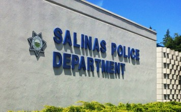 Front of Salinas Police Department building with star