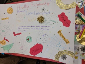 Healthy Relationships between Law Enforcement and Youth poster board