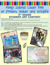 Keep Salinas Litter Free Art Contest for 5th Graders flyer