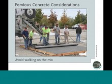 Pervious Concrete Training Video - Valerie Huff, Wallace