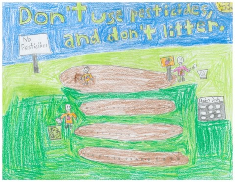 5th Grade Art Contest Winner, Don't Use Pesticides and Don't Litter by Jonathan
