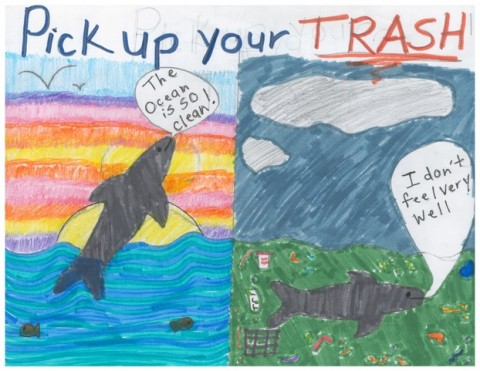 5th Grade Art Contest Winner, Pick Up Your Trash by Liz