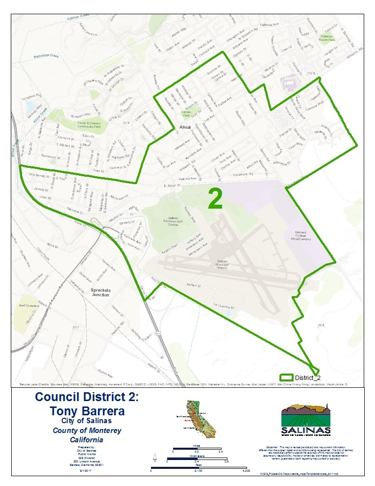 City Council District 2 City of Salinas