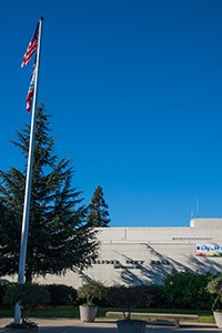 Flag pole outside City Hall, Salinas