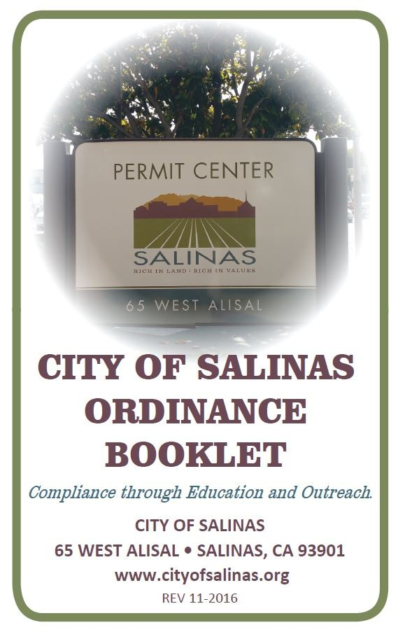 Cover of the City of Salinas Ordinance Booklet