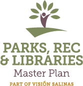 Parks Master Plan Logo (green and yellow with leaves and a person)