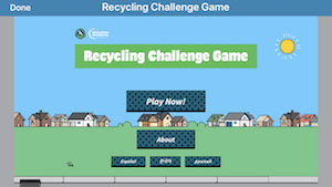 Play the Recycling Challenge Game