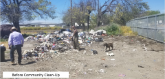 Before community clean-up