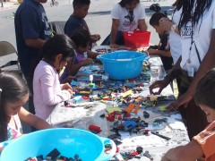 Iowa State students and local kids use Legos to build a new Alisal Street