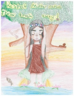 5th Grade Art Contest Winner, Respect Mother Nature by Alexa