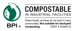 BPI Compostable product label