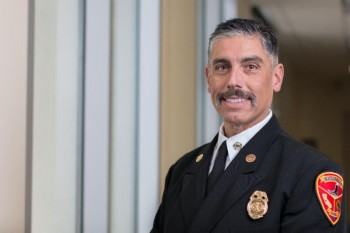 Portrait of Fire Chief Pablo Barreto