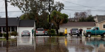 2017 photo of flooding in Salinas.  Photo courtesy of Nic Coury, Monterey Coast Weekly